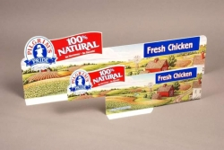 100% Natural Shelf Talkers; Styrene; Heat Bent